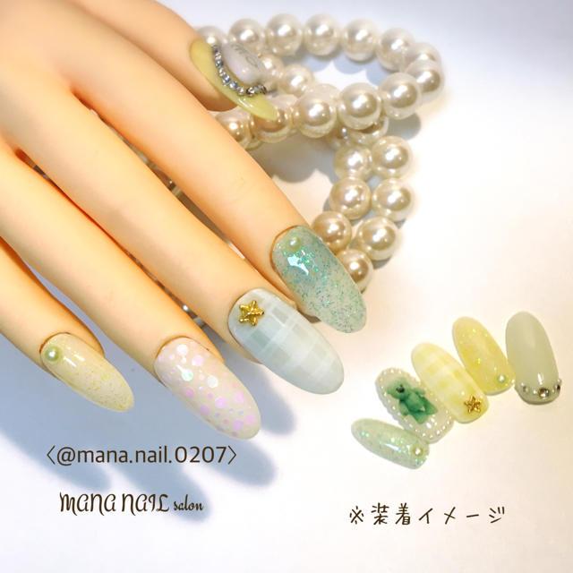 (32)新作【Lサイズ】製作後発送 コスメ/美容のネイル(つけ爪/ネイルチップ)の商品写真