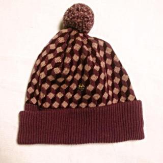 ヴィヴィアンウエストウッド(Vivienne Westwood)のヴィヴィアンウエストウッドラムウール帽子(ニット帽/ビーニー)