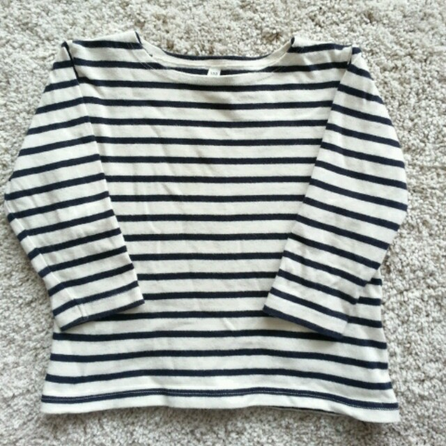 MUJI (無印良品)(ムジルシリョウヒン)の無印良品 ボーダー バスクシャツ100 キッズ/ベビー/マタニティのキッズ服 女の子用(90cm~)(その他)の商品写真