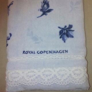 ロイヤルコペンハーゲン(ROYAL COPENHAGEN)のロイヤルコペンハーゲンハンドタオル(ブルー)(タオル/バス用品)
