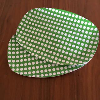 アッシュペーフランス(H.P.FRANCE)のアッシュペー デコ購入☆riceドットトレー 2枚セット(テーブル用品)