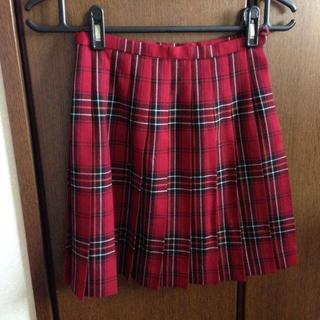 イーストボーイ(EASTBOY)のEASTBOY 赤チェックスカート(ひざ丈スカート)