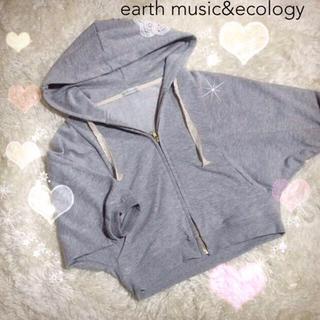 アースミュージックアンドエコロジー(earth music & ecology)のearth フード刺繍ドルマンパーカー(パーカー)