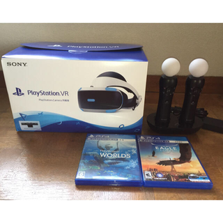 プレイステーションヴィーアール(PlayStation VR)の新型PSVR カメラ同梱版 PSmove2本ソフト2本セット PS4(家庭用ゲーム機本体)