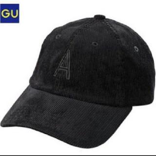ジーユー(GU)のGU コーデュロイ ロゴ キャップ(キャップ)