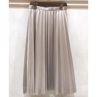 ストラ(Stola.)のStola ベロアプリーツスカート(ひざ丈スカート)
