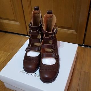 ジェーンマープル(JaneMarple)のジェーンマープル4連ストラップシューズ(茶)S(ブーツ)