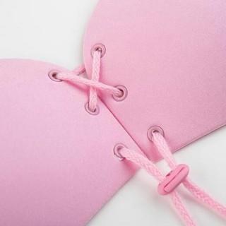 ヌーブラ ピンク Cカップ 最新の紐調整タイプ(ヌーブラ)
