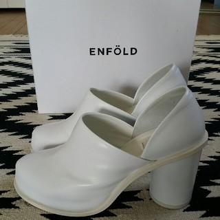 エンフォルド(ENFOLD)のENFOLD  レザーシューズ  美品(ローファー/革靴)
