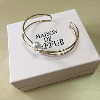 メゾンドリーファー(Maison de Reefur)のMAISON DE REEFUR ブレスレット 新品 未使用 パール(ブレスレット/バングル)