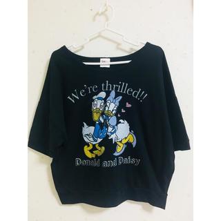ディズニー(Disney)のDisney ドルマン型カットソー  ドナルド&デイジー(カットソー(長袖/七分))
