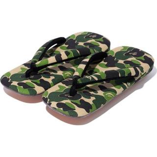 アベイシングエイプ(A BATHING APE)のbape abc camp Japanese sandals L サンダル(サンダル)