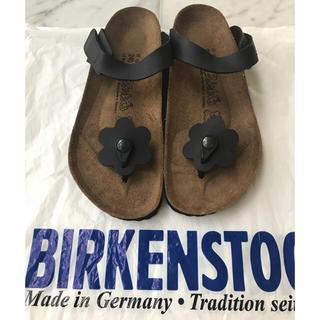 ビルケンシュトック(BIRKENSTOCK)のBIRKENSTOCK サンダル 花 黒(サンダル)