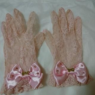 アンジェリックプリティー(Angelic Pretty)のAngelicpretty ピンクレース手袋 (手袋)