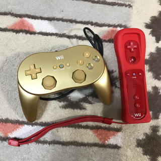 ウィー(Wii)の新品同様 Wii クラシックコントローラPro リモコンプラス セット(家庭用ゲーム本体)