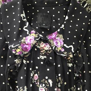 アナスイ(ANNA SUI)のアナスイ US製 ワンピース 花柄 小花柄 リボン ドット バラ(ミニワンピース)