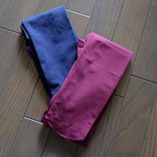 ジーユー(GU)のカラータイツ  2枚セット(タイツ/ストッキング)