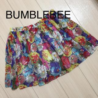 バンブルビー(BumBleBee)の【 BUMBLEBEE 】 ミニスカート 花柄 派手 春 夏 (ミニスカート)
