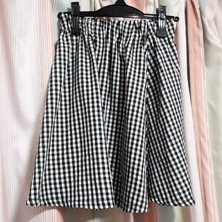 ローリーズファーム(LOWRYS FARM)のギンガムチェック ミニスカート 白黒(ミニスカート)