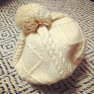 ムジルシリョウヒン(MUJI (無印良品))の無印良品 ポンポン付ニットベレー帽(ハンチング/ベレー帽)