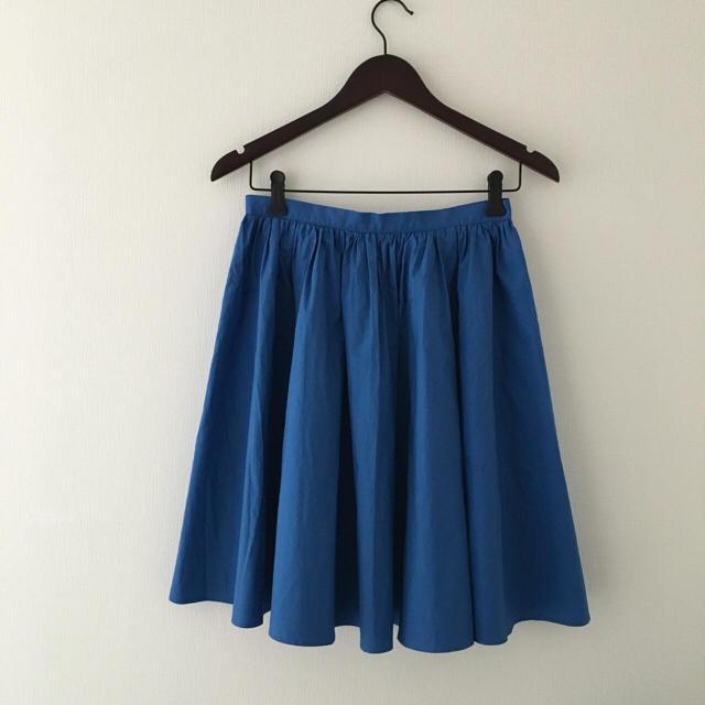 Demi-Luxe BEAMS(デミルクスビームス)のデミルクス ビームス きれい色スカート 青 ブルー レディースのスカート(ひざ丈スカート)の商品写真