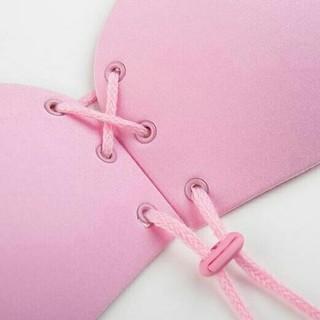 ヌーブラ ピンク Cカップ 新色入荷セール 紐調整タイプ(ヌーブラ)