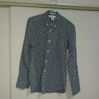 エイチアンドエム(H&M)のH&M 紺チェック シャツ(シャツ)