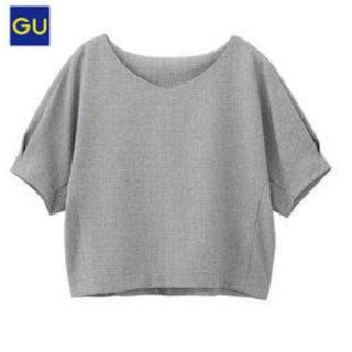 ジーユー(GU)のジーユー ボクシープルオーバー グレー 【新品】(シャツ/ブラウス(半袖/袖なし))