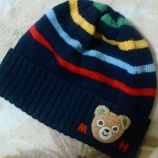 ミキハウス(mikihouse)のミキハウスボーダー編みぐるみニット帽子(その他)