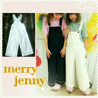 メリージェニー(merry jenny)のmerry jenny ♡ YURERUデニムオーバーオール(サロペット/オーバーオール)