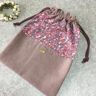 ボンポワン(Bonpoint)のリバティ巾着 スザンヌ  ハンドメイド     ボンポワン  のお好きな方にも(外出用品)