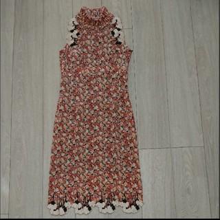 スーナウーナ(SunaUna)の美品♥️スーナウーナ  チャイナ風ドレス(ミディアムドレス)