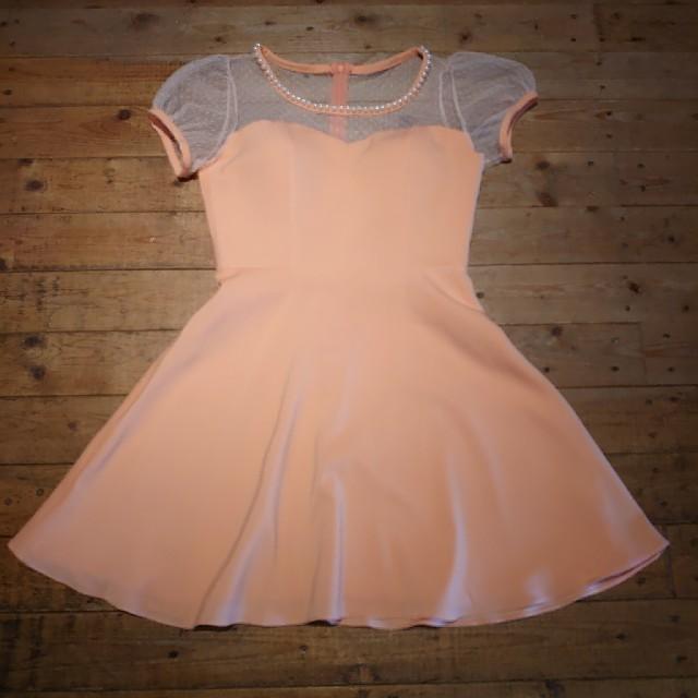 JEWELS(ジュエルズ)のJ17373 新品 L ドレスワンピース Jewels オレンジ ドット レディースのフォーマル/ドレス(ナイトドレス)の商品写真