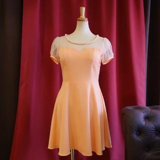 ジュエルズ(JEWELS)のJ17373 新品 L ドレスワンピース Jewels オレンジ ドット(ナイトドレス)