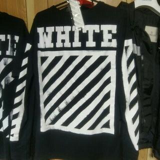 オフホワイト(OFF-WHITE)のタグ付正規 Off White ロンTシャツ XXS Supreme Y-3 (Tシャツ/カットソー(七分/長袖))
