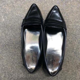 ポインテッドトゥローファー 25.5(ローファー/革靴)
