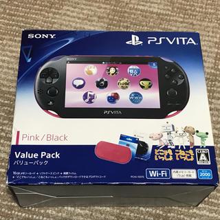 プレイステーション(PlayStation)のpsvita PCH-2000 Pink/Black(携帯用ゲーム機本体)