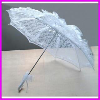 新品■レース ふりふり傘 ホワイト 5860120(傘)