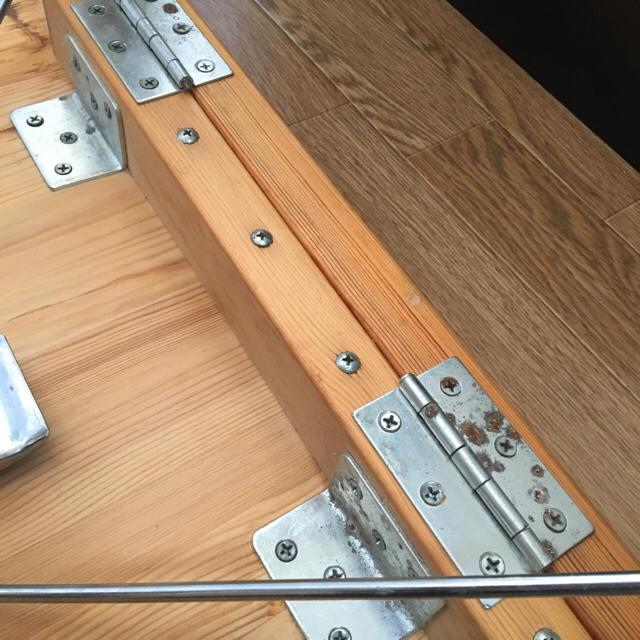 MUJI (無印良品)(ムジルシリョウヒン)の【無印】折りたたみ式机 インテリア/住まい/日用品の机/テーブル(折たたみテーブル)の商品写真