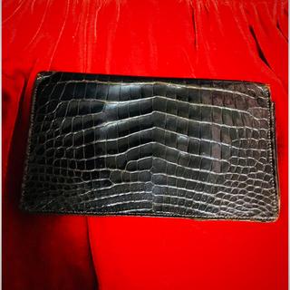 エルメス(Hermes)のエルメス クロコダイル 札入れ 二つ折り 折り財布(長財布)