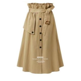 トレンチスカート チノスカート ディテールスカート ベルト付き トレンチ(ロングスカート)