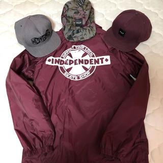 ハフ(HUF)のindependent coach jacket huf snapbackcap(キャップ)