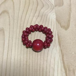 yong様専用です。染め赤珊瑚の指輪(リング(指輪))