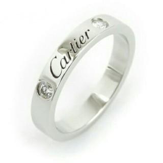 カルティエ(Cartier)のカルティエ 2Pダイヤ リング エングレーブド 8号(リング(指輪))