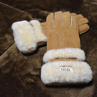 アグ(UGG)の【UGG】ムートン手袋(brown)(手袋)