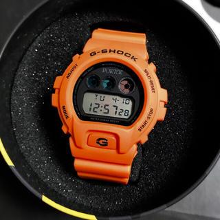 ジーショック(G-SHOCK)の値下げ無し 新品 PORTER G-SHOCK DW-6900 ORANGE(腕時計(デジタル))