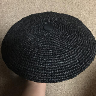 パメオポーズ(PAMEO POSE)のPAMEO POSE ベレー帽 黒(ハンチング/ベレー帽)
