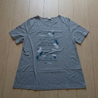 ♪ レディース 半袖Tシャツ 3L グレー(Tシャツ(半袖/袖なし))