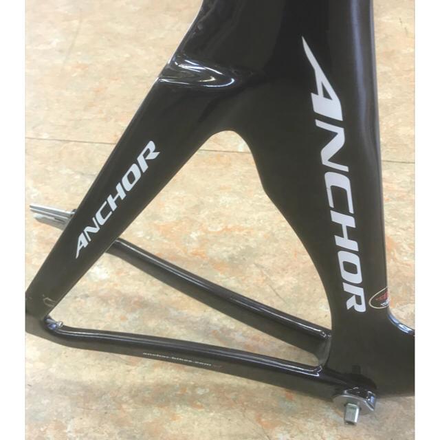 【中古】ANCHOR ブリヂストン アンカー カーボントラックフレーム ピスト スポーツ/アウトドアの自転車(自転車本体)の商品写真