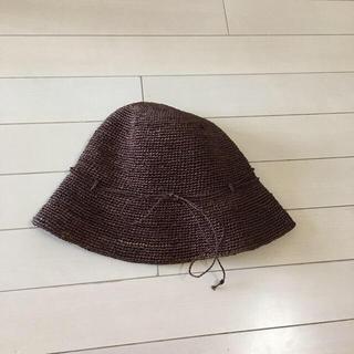 ムジルシリョウヒン(MUJI (無印良品))の無印 麦わら帽子 ラフィア サイズ57.5 ツバ7.5(麦わら帽子/ストローハット)